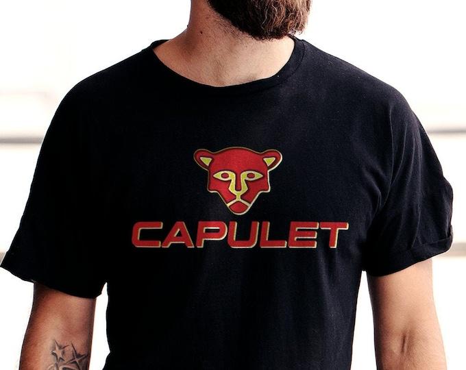 House of Capulet Men's/Unisex Black 'Romeo & Juliet' Graphic T Shirt