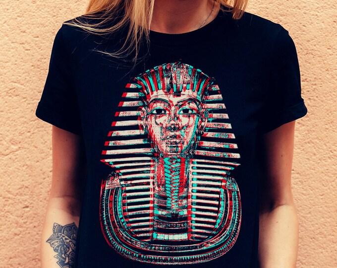 Tutankhamun Women's Navy Graphic T Shirt