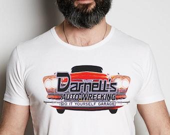 Darnell's Auto Wrecking White Super Soft Graphic T Shirt