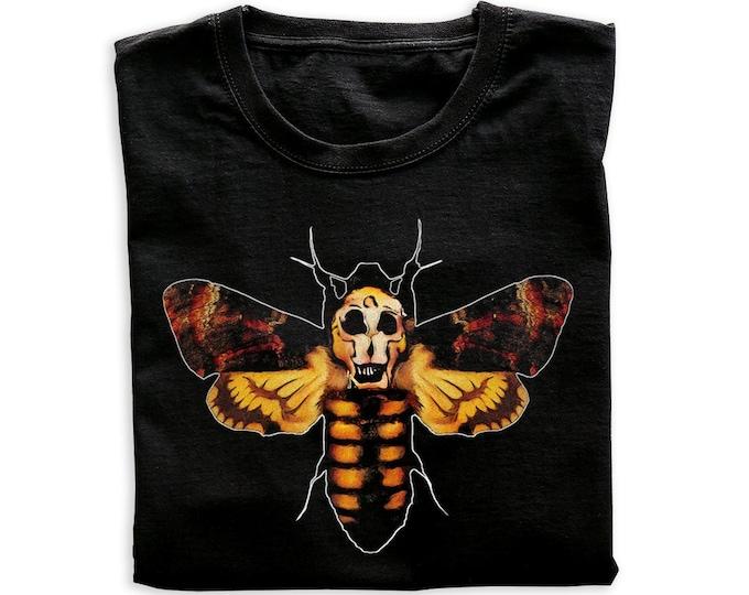 Death's Head Hawkmoth Men's/Unisex Black Graphic T Shirt   Super Soft Men's Horror Tee