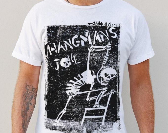 Hangman's Joke Men's/Unisex White Graphic T Shirt