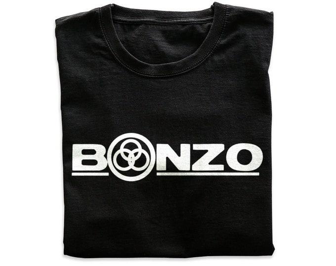 Bonzo Men's/Unisex Black Rocker T Shirt | Super Soft Men's Tee