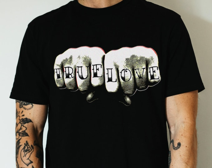 True Love Knuckles Graphic T Shirt