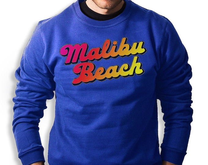 Malibu Beach Men's/Unisex Sweatshirt (Royal Blue)