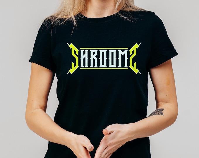 Shrooms Women's Black Graphic T Shirt