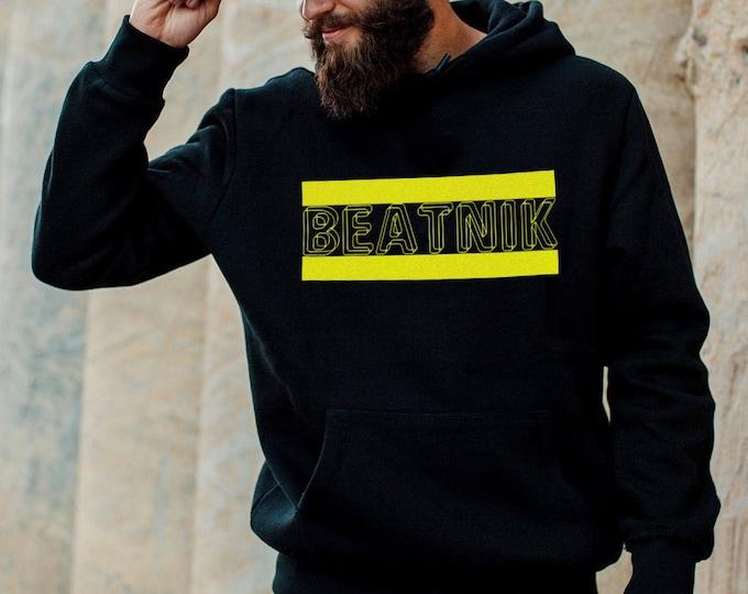Beatnik Men's/Unisex Black Hoodie