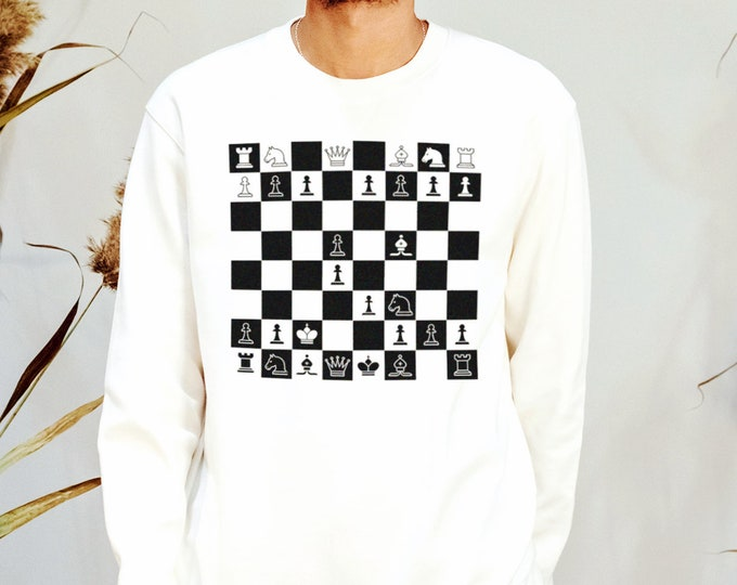 Checkmate Men's/Unisex White Sweatshirt