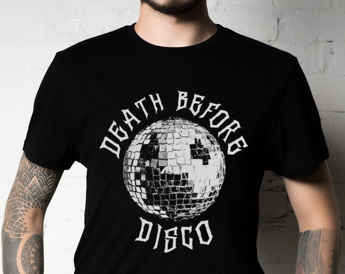 Death Before Disco Graphic T Shirt