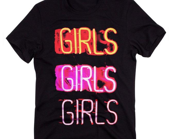 Neon Strip Club Men's/Unisex 'Girls' Graphic T Shirt