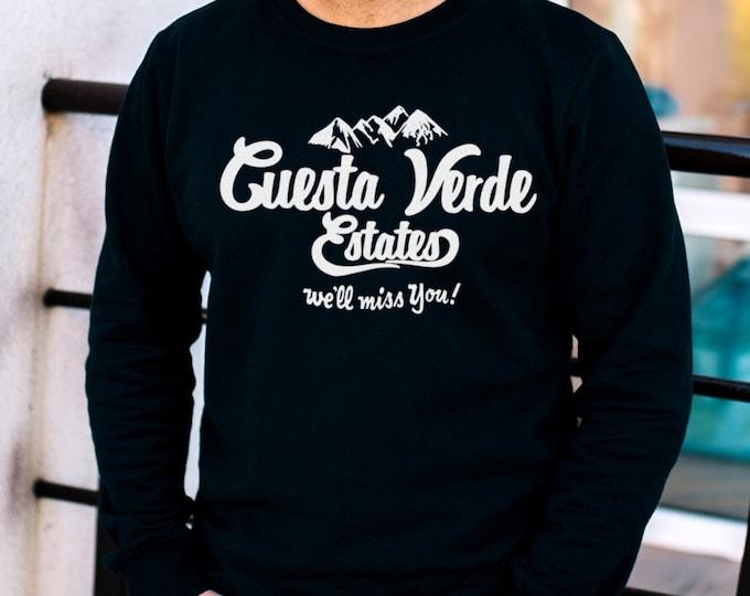 Cuesta Verde Estates Men's/Unisex Black Sweatshirt