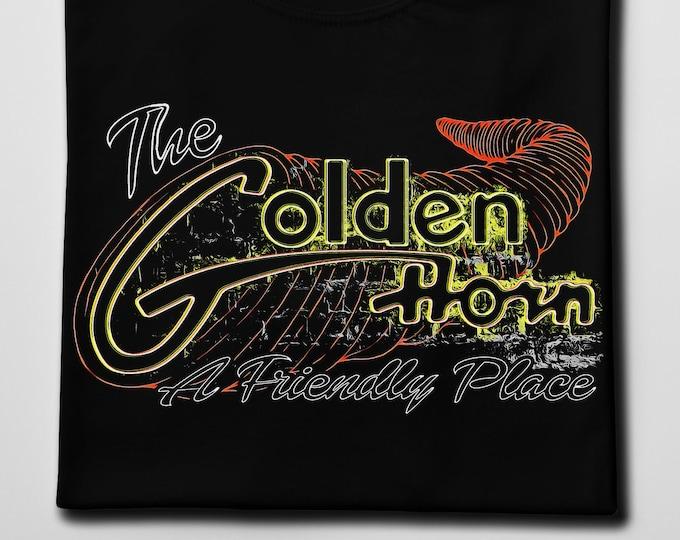 The Golden Horn Men's/Unisex Black Graphic T Shirt - Super Soft Barfly Tee