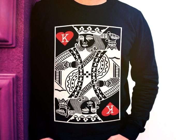 King of Hearts Men's/Unisex Black Sweatshirt