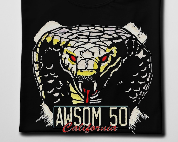 Awsom 50 Cobra Men's/Unisex Black Graphic T Shirt | Super Soft Men's Tee