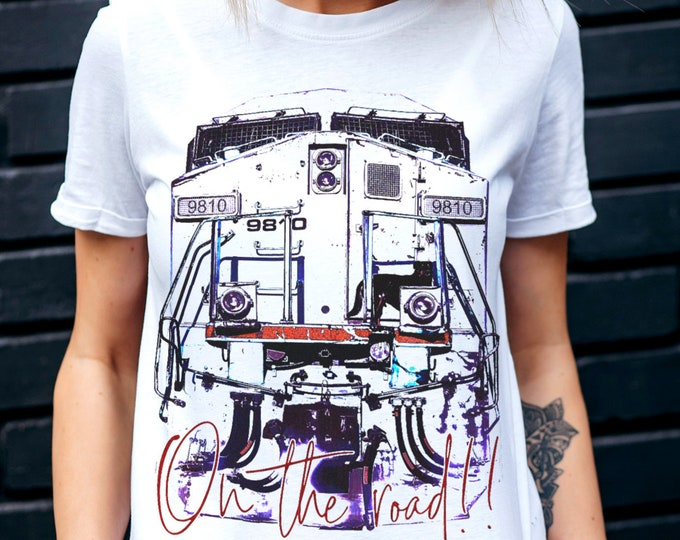 On The Road Women's White Beatnik Graphic T Shirt