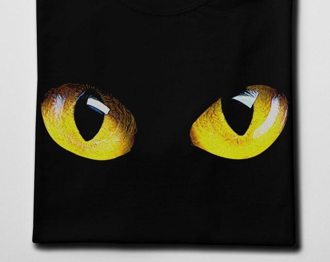 Cat's Eyes Men's/Unisex Black Graphic T Shirt