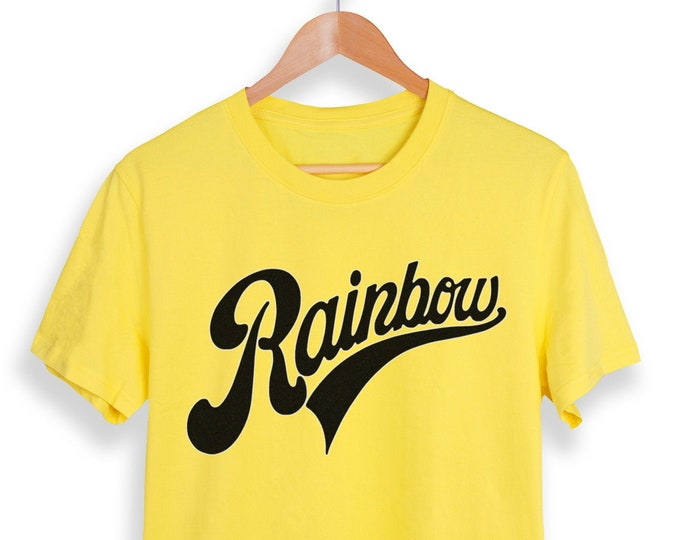 Rainbow Men's/Unisex Yellow Graphic T Shirt