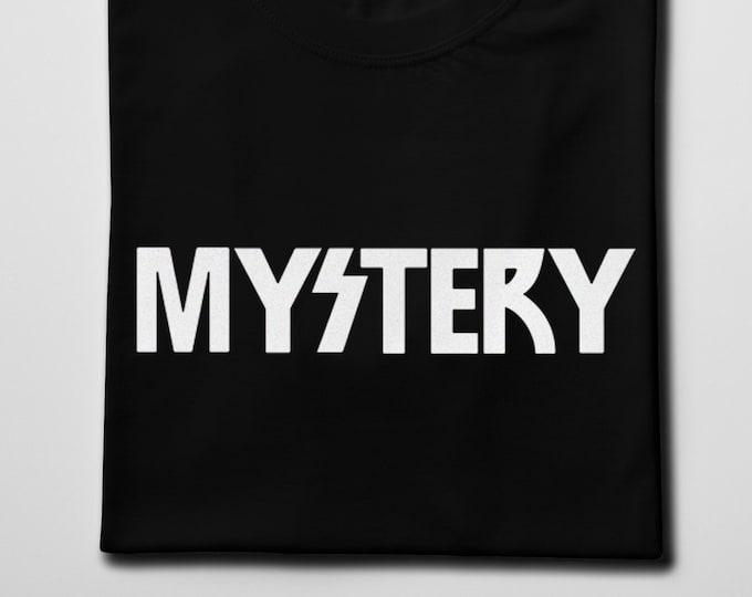 Mystery Men's/Unisex Black Graphic T Shirt | Super Soft Men's Rocker Tee