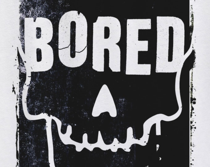 Bored to Death Men's/Unisex White Graphic T Shirt