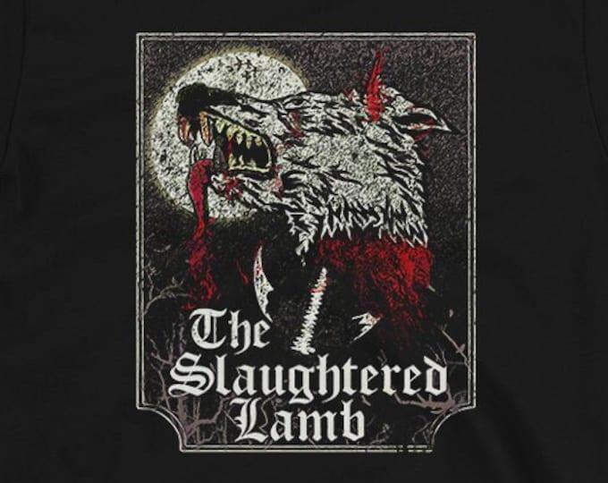 The Slaughtered Lamb Graphic T Shirt | Men's/Unisex Black Super Soft Horror Graphic T Shirt