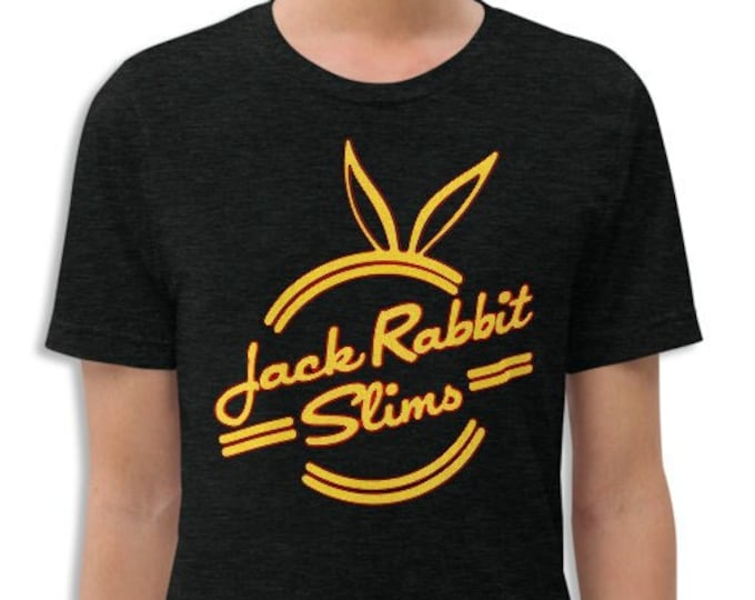 Jack Rabbit Slims Vintage Style Charcoal-Black Graphic T Shirt - Unisex Tri-Blend T-Shirt | Bella + Canvas |