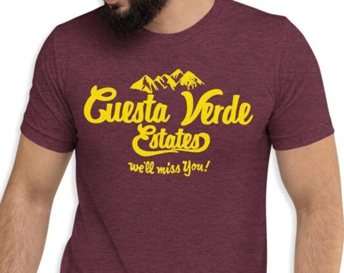 Cuesta Verde Maroon Vintage Style Graphic T Shirt - Unisex Tri-Blend T-Shirt | Bella + Canvas |