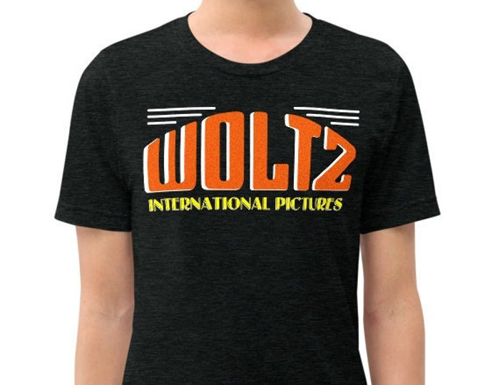 Woltz International Pictures Charcoal-Black Vintage Style Graphic T Shirt - Unisex Tri-Blend Tee | Bella + Canvas |