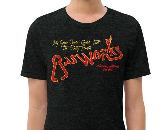 Gasworks Charcoal-Black Vintage Style Graphic T Shirt - Unisex Tri-Blend Rocker Tee | Bella + Canvas