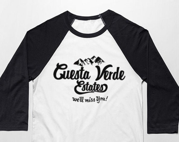 Cuesta Verde 3/4 Sleeve Unisex Baseball Graphic T Shirt
