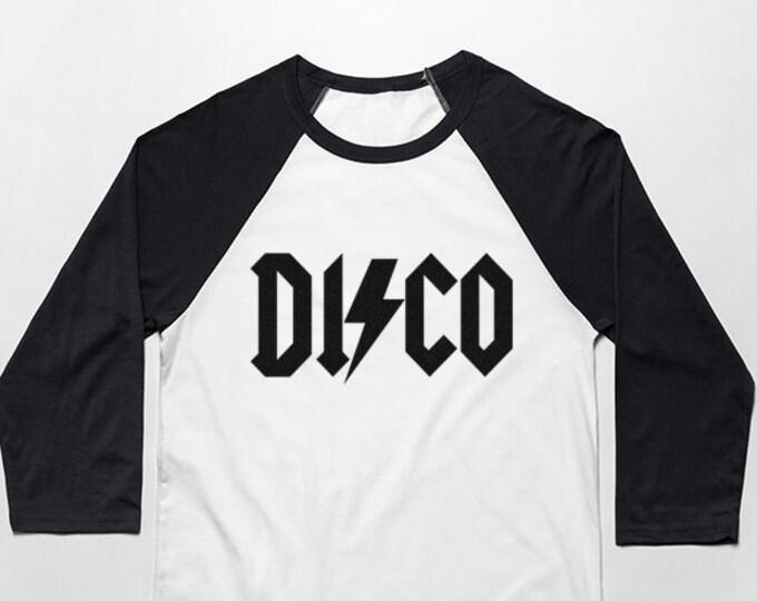 Disco 3/4 Sleeve Unisex Baseball Graphic T Shirt