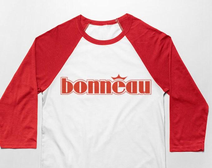 Bonneau 3/4 Sleeve Unisex Baseball Graphic T Shirt