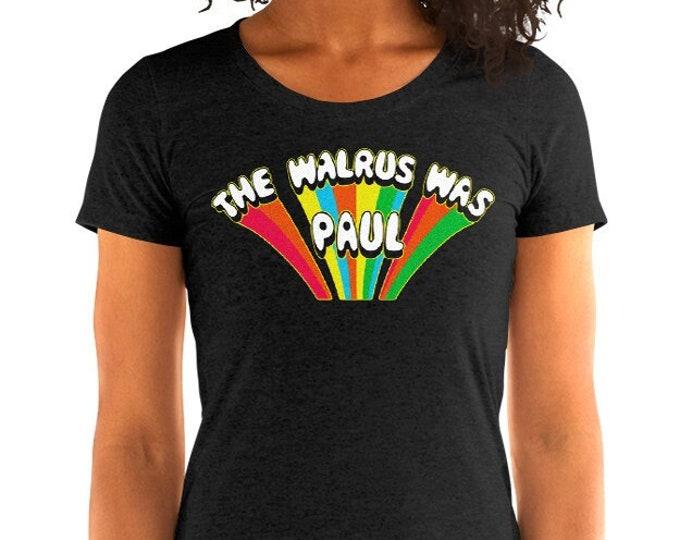 Women's Walrus Was Paul Vintage Style Graphic T Shirt - Tri-Blend T-Shirt | Bella + Canvas |