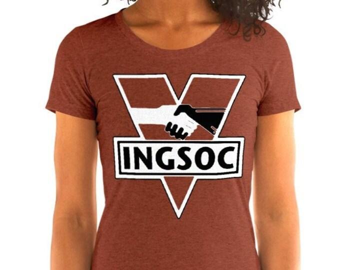 Women's INGSOC Vintage Style Graphic T Shirt - Tri-Blend T-Shirt | Bella + Canvas |