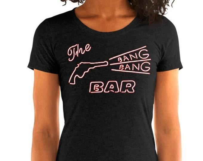 Women's Bang Bang Bar Vintage Style Graphic T Shirt - Tri-Blend T-Shirt | Bella + Canvas |