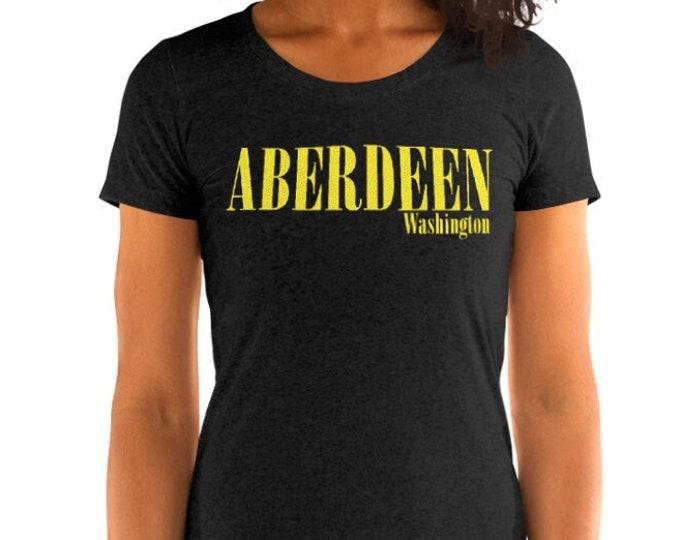 Aberdeen Vintage Style Graphic T Shirt - Tri-Blend T-Shirt | Bella + Canvas |