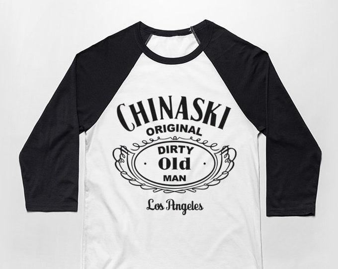 Chinaski 3/4 Sleeve Unisex Baseball Graphic T Shirt
