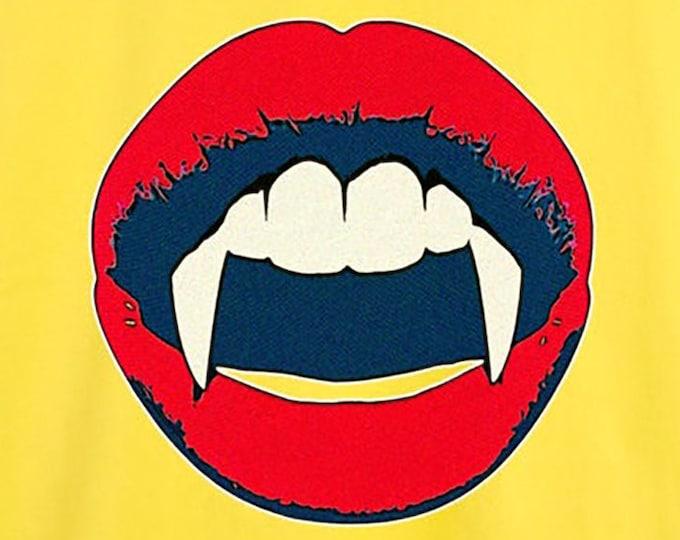 Vampire Pop Art Men's/Unisex Yellow Graphic T Shirt