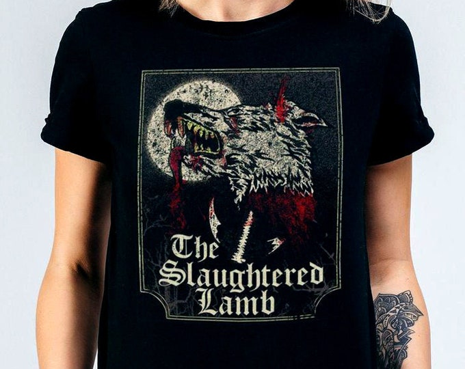 The Slaughtered Lamb Women's Graphic T Shirt - Horror Movie Tee