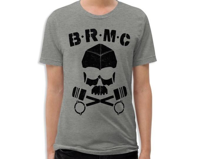 BRMC Skull Vintage Style Graphic T Shirt (The Wild One) Unisex Rocker Tri-Blend T-Shirt | Bella + Canvas |