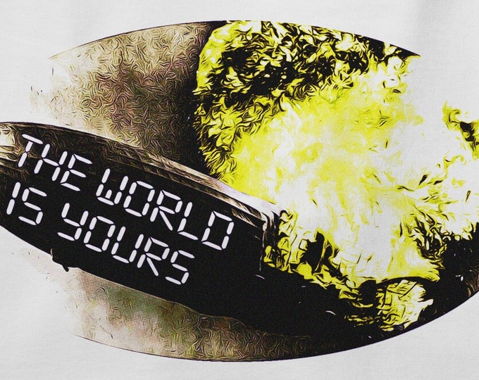 The World is Yours Men's/Unisex White Zeppelin Graphic T Shirt