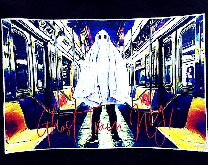 Ghost Train New York Men's/Unisex Black Graphic T Shirt - Super Soft Tee