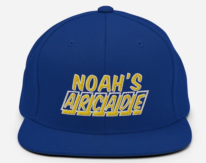 Noah's Arcade Flat Bill Snapback Cap - Embroidered 6-Panel Structured Baseball Hat - Royal Blue Hat & Visor