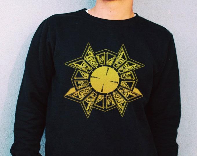 Puzzle Box Men's/Unisex Black Fleece / Cotton Pullover Sweatshirt