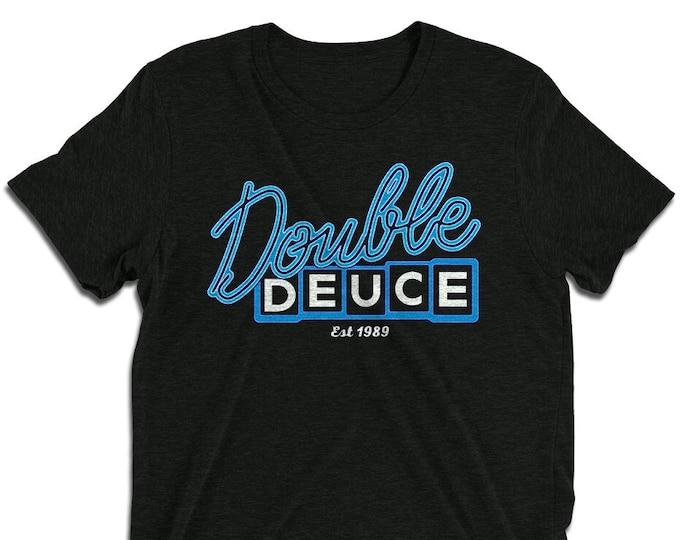 Double Deuce Charcoal-Black Vintage Style Graphic T Shirt - Unisex Tri-Blend T-Shirt | Bella + Canvas |