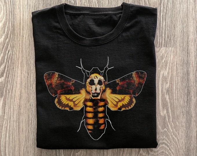 Death's Head Hawkmoth Men's/Unisex Black Graphic T Shirt