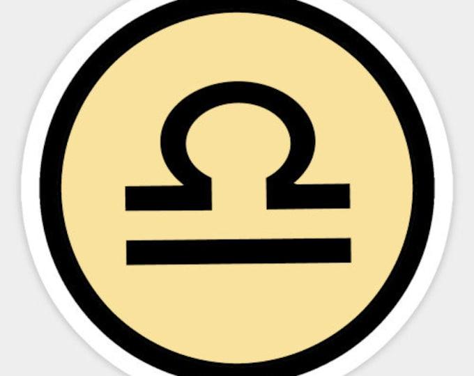 Libra Sticker - Zodiac Sign