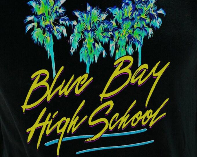 Blue Bay High School Men's/Unisex Black Graphic T Shirt | Super Soft 90's Theme Tee