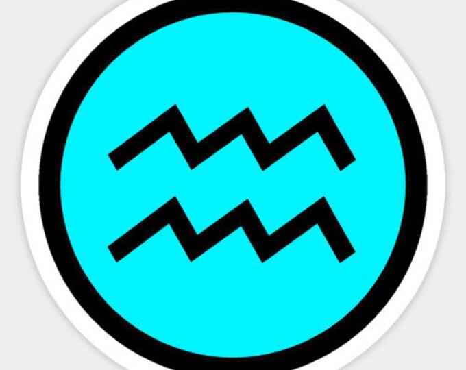 Aquarius Sticker - Zodiac Sign