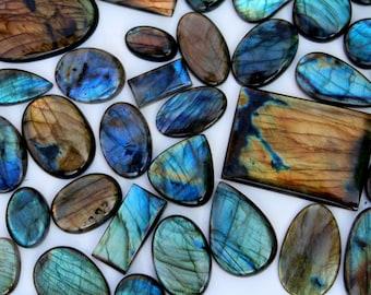 Labradorite Palm Stone Polished Gemstone Multi Fire Labradorite Cabochon Loose Gemstone 31 ct oval Shape Best For Silver,Wire wrap Jewelry
