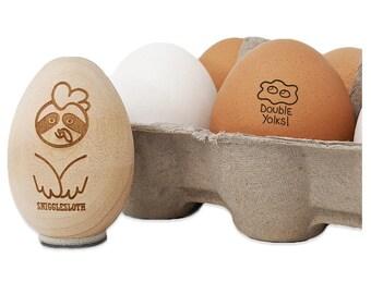 Double Yolks Fried Egg Chicken Egg Rubber Stamp