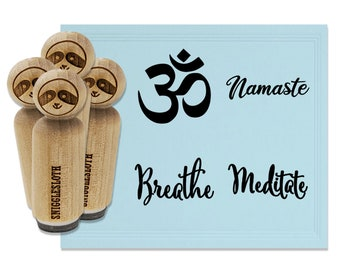 Yoga Sloth Namaste Square Rubber Stamp for Stamping Crafting